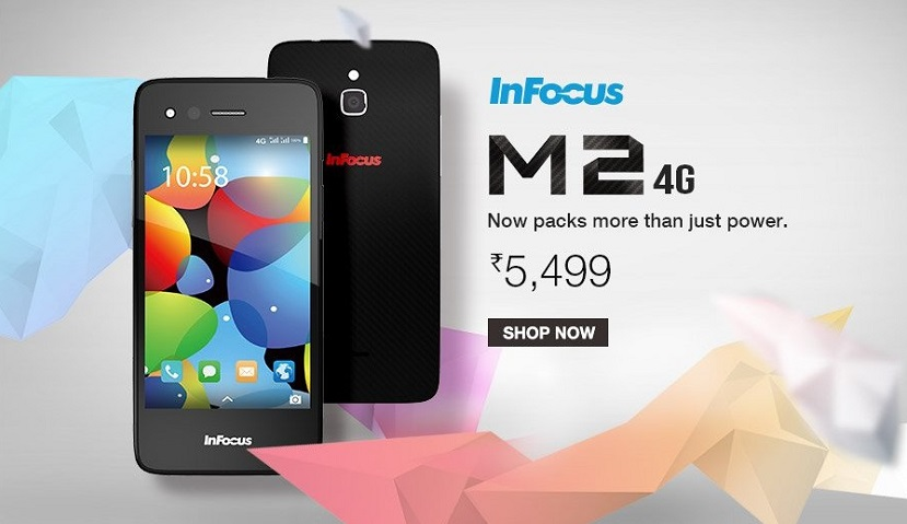 Infocus M2 4G Available on Amazon at Rs5499