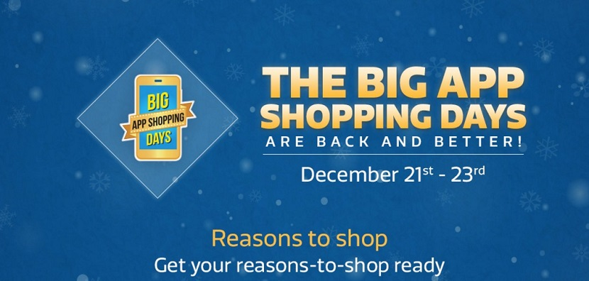 Flipkart Big App Shopping Days are Back December 2015