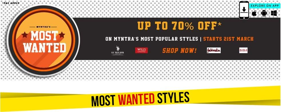 Myntra most wanted sale