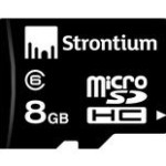 Strontium 8 GB Micro SDHC Class 6 Card at Rs.151 only
