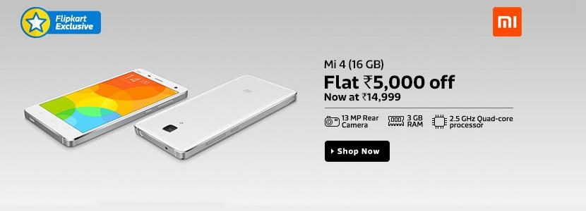 Flipkart Mi4 sale