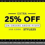 Jabong Selected Styles Get up to 25% discount
