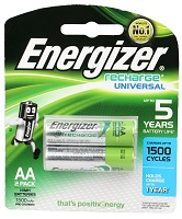 Energizer Universal Rechargeable Battery Pack of two 1500 Mah