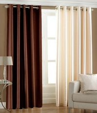 Home Sazz Multicolor Polyster plain window curtain