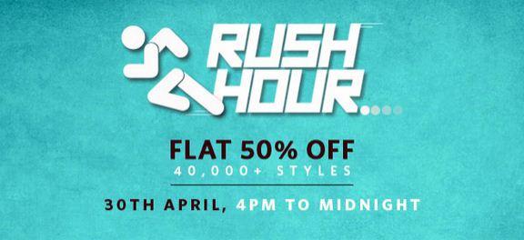 Myntra Rush Hour sale