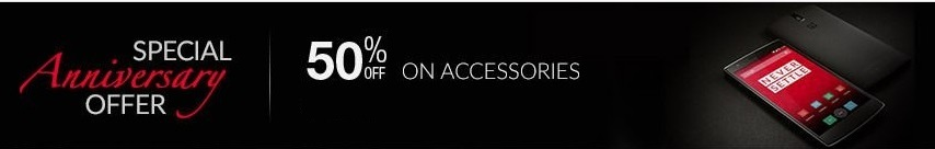 One Plus One Special Anniversary Offer on Accessories