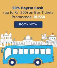 Paytm bus ticket