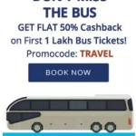 Flat 50% cashback on First 1 lakh Paytm Bus Tickets