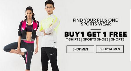 Jabong buy 1 get 1 free offer