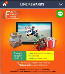 Line free voucher fastest finger first contest
