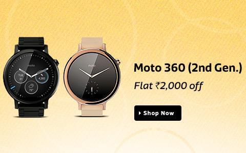 Moto 360 Smartwatch on Flipkart flat 2k off