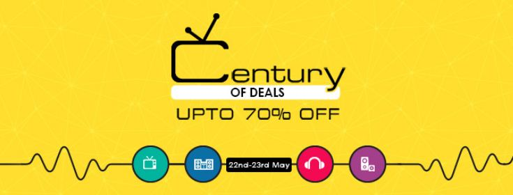 Snapdeal century of deals offer