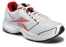paytm reebok white and red sports shoes
