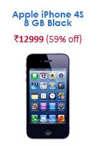 snapdeal apple iphone 4s 8 gb black