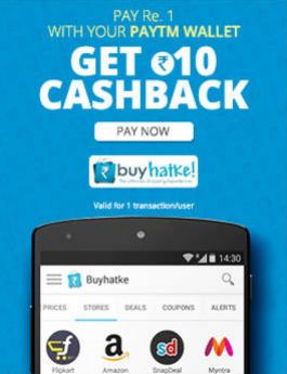 BuyHatke Paytm Offer Pay 1 Get 10