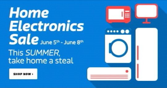 Flipkart home electronics sale june 5