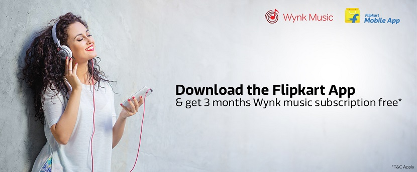 Free Wynk Subscription with Flipkart App