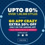Jabong Go App Crazy Sale – Up to 80% Off on App