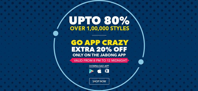 Jabong Go App Crazy Sale