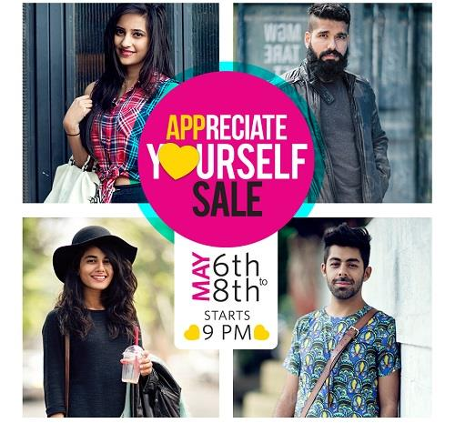 Myntra Biggest App Only Fashion Sale is Here 2016 The Appreciate Yourself Sale