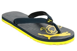 Snapdeal Puma Miami Yellow Flip Flops