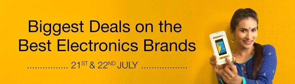 Amazon electronics sale 21st and 22nd july
