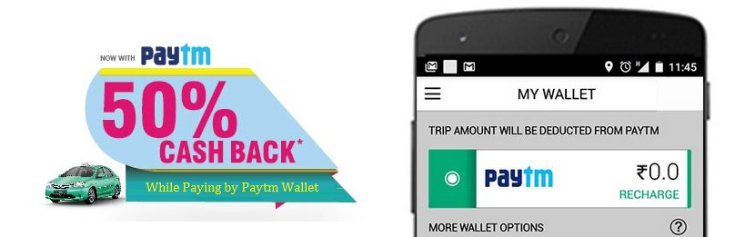 Meru Cabs Cashback Offer on Paytm