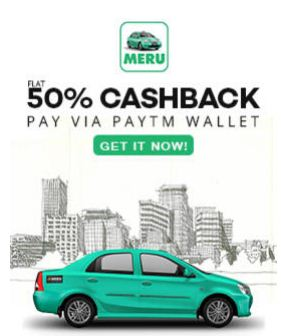 Meru cabs cashback offer Paytm