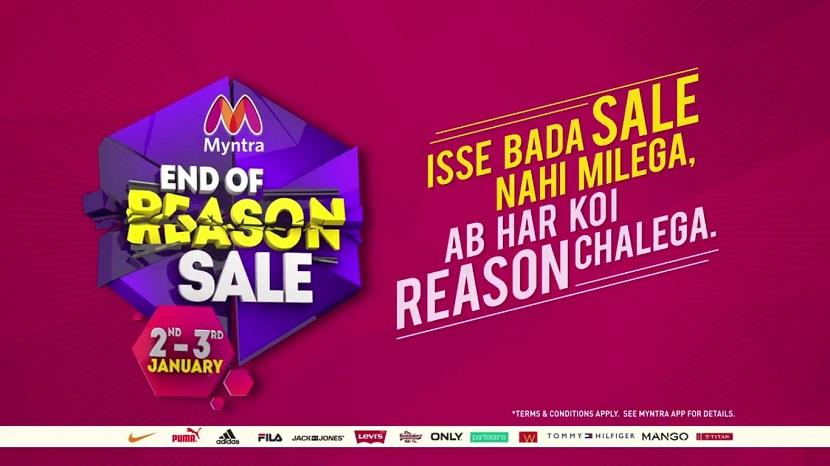 Myntra End of Reason Sale 2 - 3 January