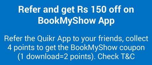 Quikr App Offer