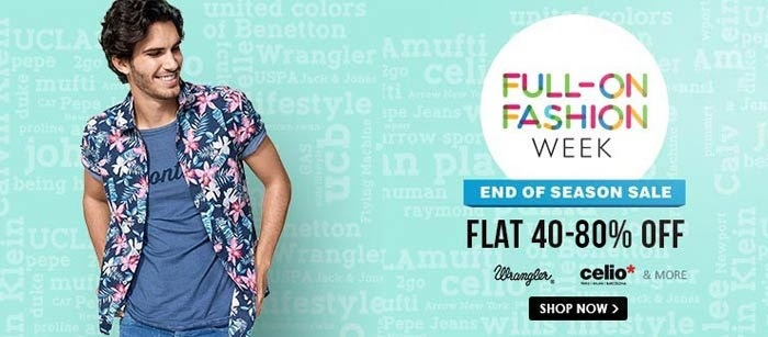 Snapdeal FULL-ON FASHION WEEK Sale