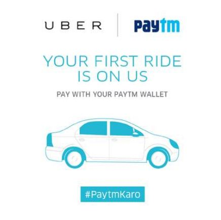 Uber first ride free upto 400 with paytm