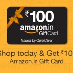 Free Amazon Gift card of Rs.100 – Only for Today