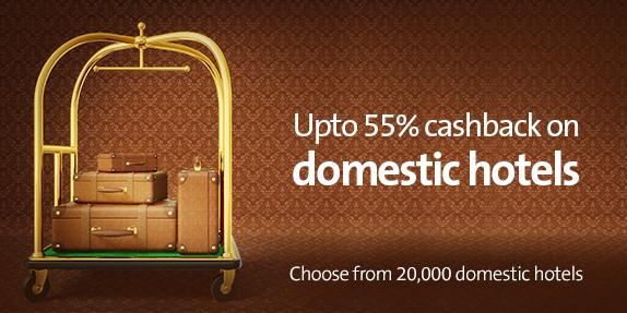 Cleartrip Coupons Upto 55 Cashback on domestic hotels