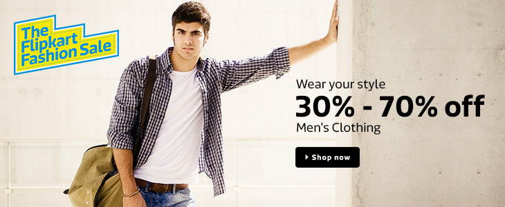 6ee5b5f53ec56 Flipkart Fashion Sale - Apparels and Footwear at 30% OFF