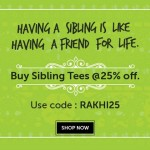 Freecultr Rakhi Sale – Buy Sibling Tees at 25% off