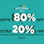 Jabong Last Chance Sale – Extra 20% Off on Everything