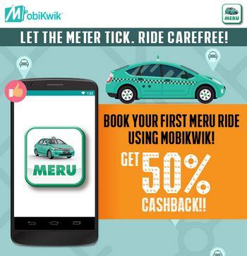Mobikwik Meru Cabs offer