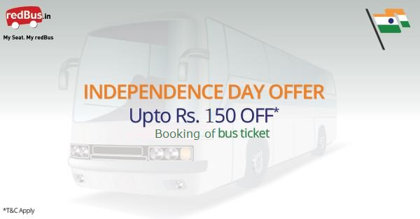 RedBus Independence Day Offer