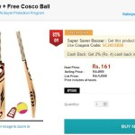 ShopClues Offer Cricket Bat and Ball Combo at Rs. 111 only