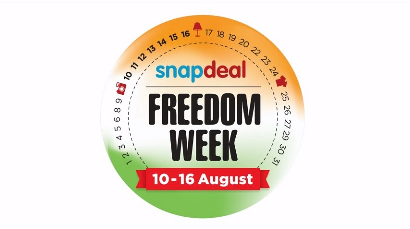 Snapdeal Freedom Week 10th august