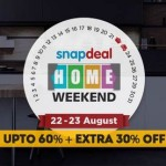 Snapdeal Home Weekend Sale – Upto 60% + 30% Off