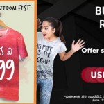 Freecultr Freedom Fest : Tees at Rs. 99 only
