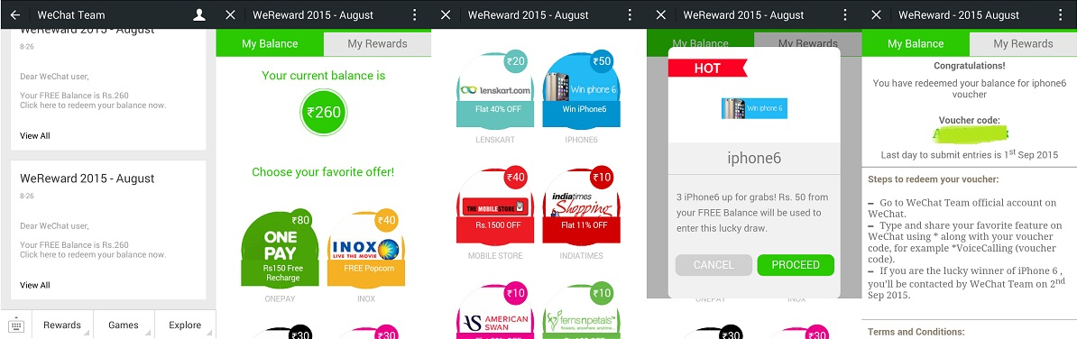 wechat wereward august 2015 final procedure