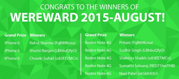 wechat winners august 2015 list