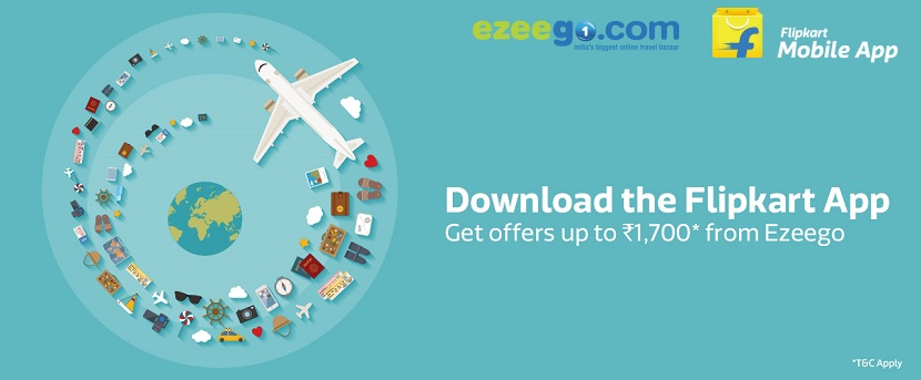Download Flipkart App and Get Ezeego1 Offers