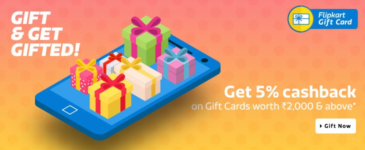 Flipkart Gift Card Cash Back Offer is live now