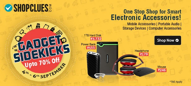 Gadget Sidekicks Sale on Electronic Accessories Shopclues