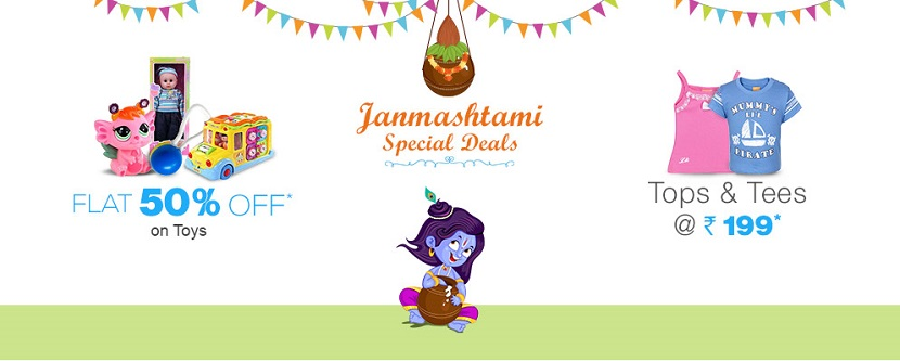 Janmashtami offers and deals at FirstCry