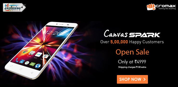Micromax Canvas Spark open sale